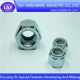 Noix de nylon de l'acier du carbone de constructeur de la Chine 4.8