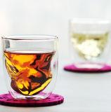 Tazze di vetro doppie fatte a mano del ghiaccio della tazza del whisky