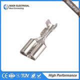 Messingterminalauto-elektrische Terminals des weiblichen Verbinder-6.3mm