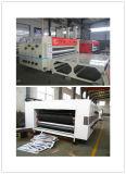 Impresión acanalada semiautomática de alta velocidad del rectángulo de Flexo que ranura la máquina que arruga que corta con tintas