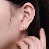 925 순은 꽃 모양 귀 장식 못 소녀를 위한 사랑스러운 디자인 귀걸이