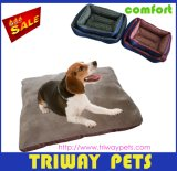 Soft Flannel & Printed Fabric Pet Bed (WY161030)