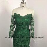 La demoiselle d'honneur de lacet de sirène rectifie la longue robe faite sur commande de demoiselle d'honneur de chemises