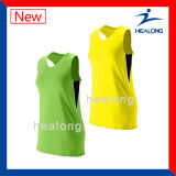 Повелительниц сублимации шестерни одеяния Healong трикотажные изделия волейбола пустых безрукавный