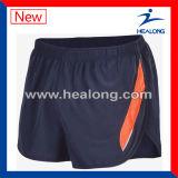 O desgaste quente da ginástica da venda de Healong cortou e Sew Shorts claramente Running