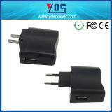 adaptador de enchufe de pared de la UE de 5V 1A con el USB