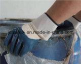 Связанная нейлоном перчатка работы с ровный окунать нитрила (N1569C)