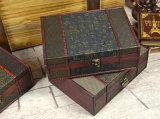 Wiederherstellungs-alte Methoden, den hölzernen Kasten mit Größe A4 zu empfangen