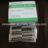 Lame chirurgicale stérile jetable (acier au carbone et acier inoxydable)