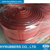 Mangueira lisa da configuração dobrável do PVC do baixo preço no vermelho