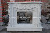 Lareira em mármore branco flor Surround Mantel (SY-MF019)