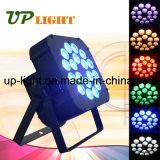 Stage New 18PCS 18W Rgbwauv 6in1 Flat LED PAR Light
