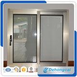 Perfil de aluminio para ventana corrediza / aluminio de doble ventana de cristal con la pantalla de la ventana