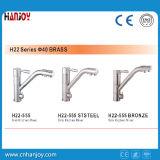 Grifo de la cocina con H22-555 beber agua / Ststeel / bronce / Negro