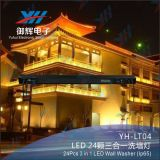 Impermeável 24PCS RGB 3 em 1 LED Wall Washer Light