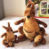 Jouet de peluche de kangourou bourré par coutume