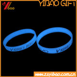 Incandescenza nel braccialetto luminoso scuro del silicone, Wristband del silicone, Wristband di gomma, Wristband di promozione (XY-BR-027) di alta qualità