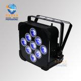 Rasha Panta 9*15W 5in1 Rgabw電池式のWiFi LEDの平らな同価ライトLED細い同価の効果の洗浄ライト