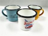 De Mok van het email met Rolling Rand 7cm de koffieKop van de Kop van de Melk 280ml voor Gift