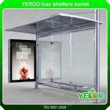 Q304 Custom-Made de acero inoxidable Fabricación de refugio de parada de autobús de publicidad