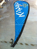 Pólo de fibra de vidro personalizados de praia em forma de lágrima Feather arvorando pavilhão (SU-FG4)