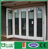 Doppio portello di piegatura di alluminio di vetro Pnocfd0036