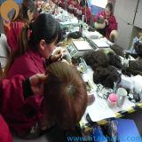 Rückseitige flache französische Spitze indische Remy Haar-Systeme für Männer