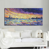 Peinture d'huile Sunrise colorés avec le châssis