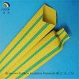 2: Câmaras de ar de 1 Shrink do calor do PE do verde amarelo do marcador do fio do cabo