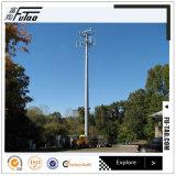 Toren Van uitstekende kwaliteit van Pool van het Staal van de Telecommunicatie van voet de 30m Gegalvaniseerde