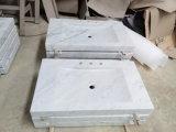 Bacia de lavagem de pedra de mármore retangular branca para a cozinha/banheiro/Toliet