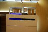 Gabinete de cozinha elevado do MDF do lustro da laca branca