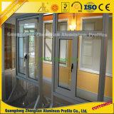 Revestimiento en polvo personalizada de extrusión de aluminio anodizado de perfiles de puertas y ventanas