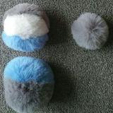 Sfera falsa Keychain animale sfocato della pelliccia del coniglio del Faux del Pompom della pelliccia