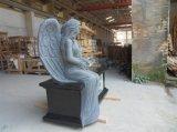 Lápide famosa & Mounument do granito do anjo com forma do coração