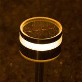 Luz de poste al aire libre de la lámpara de la luz del jardín del césped LED del panel solar