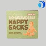 Sacchetto a gettare biodegradabile su ordinazione di plastica del pannolino del bambino