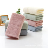Promocional llano teñido suave Terry cara / toallas de baño