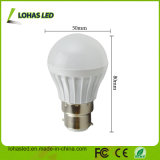 Do Ce plástico da luz de bulbo do diodo emissor de luz do fornecedor de China bulbo 2017 energy-saving do diodo emissor de luz do poder superior B22 3W SMD5730 da luz de bulbo do diodo emissor de luz de RoHS