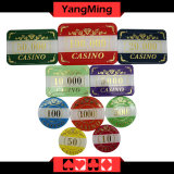 Набор микросхем покера случая казина 760PCS Alluminum и с бронзировать обломоки таблицы казина разыгрыша установил Ym-Lctj004