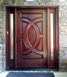 Porta de vidro da entrada Home da madeira contínua com Sidelights (GSP1-038)
