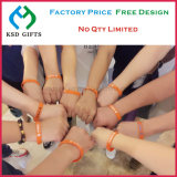 Wristband del braccialetto 100% del silicone di abitudine/elastico/silicone