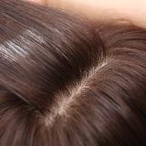 Peluca atada mano completa del cordón de la franja de la tapa de la piel del pelo humano