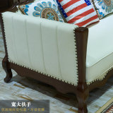 Sofá americano do couro genuíno de projeto moderno para a mobília da sala de visitas como 845
