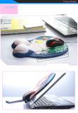 """Almofada de rato """"sexy"""" do gel 3D do silicone com o peito """"sexy"""" das mulheres da impressão"""