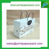 Strong couleurs imprimées kraft sacs de transport du papier de la Poignée Torsadée boutique/don/Mode/sacs parti