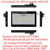 5.0inch Capactif Multi-Touch Android voiture GPS Navigation Tablet PC avec 2CH voiture DVR, 5.0mega caméra voiture, WiFi; Bluetooth; Transmetteur FM; GPS Navigator