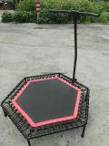 Trampoline ginástico interno com cabos elásticos para o clube de salto adulto