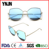 Nuevo diseño de la personalidad claro gafas de sol lentes de ojo de gato