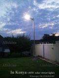 13 años de la experiencia LED de luz de calle elegante solar integrada toda en una oscuridad al amanecer